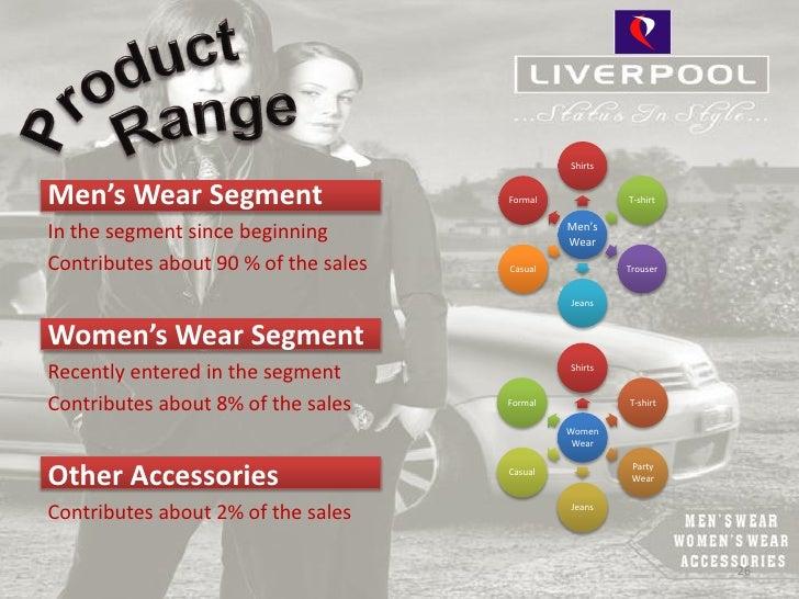 ShirtsMen's Wear Segment                    Formal            T-shirtIn the segment since beginning                 Men's ...