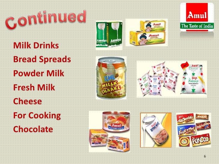 Milk DrinksBread SpreadsPowder MilkFresh MilkCheeseFor CookingChocolate                6