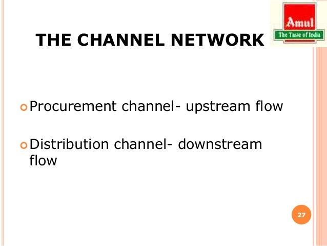 distribution channel of amul Distribution- channels, logistics et al distribution channel:  according to american marketing association:  a channel of distribution or marketing channel,.