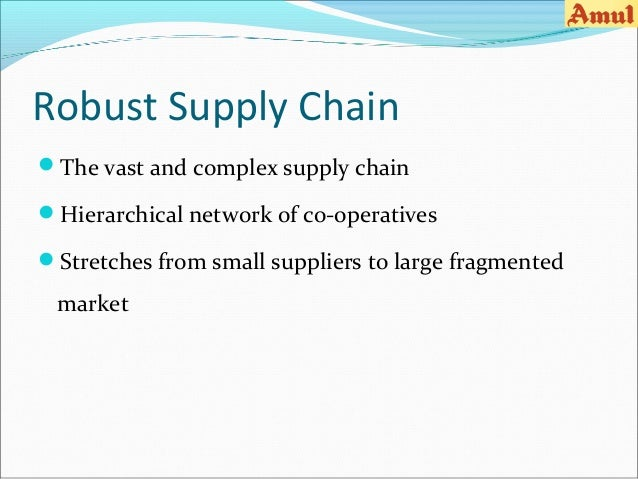 value chain analysis of amul Supply chain analysis of kfc southeast asia and malaysia - though faced with many challenges, it is still an inspiring success story kfc has a strong supply chain network to cater to its.