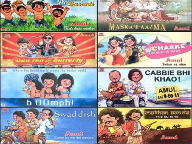 Amul Communication Channel           • Word of mouth ( by wittyPersonal     punch lines used in the Ads             referr...