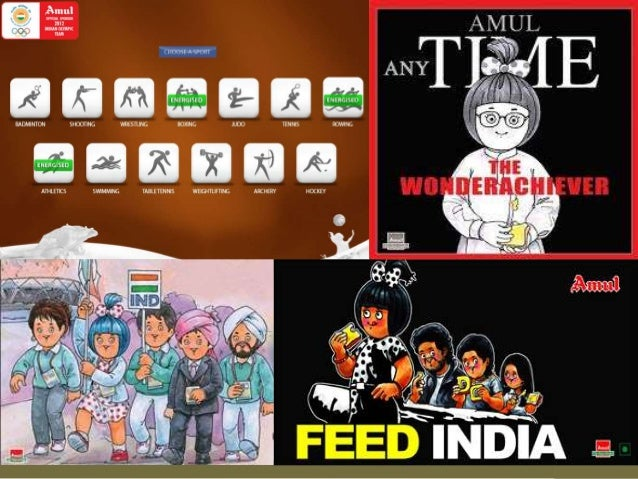 Message encoding• Verbal Encoding : The witty punch lines• Graphics Encoding: The Amul Moppet ( in sync with  verbal encod...