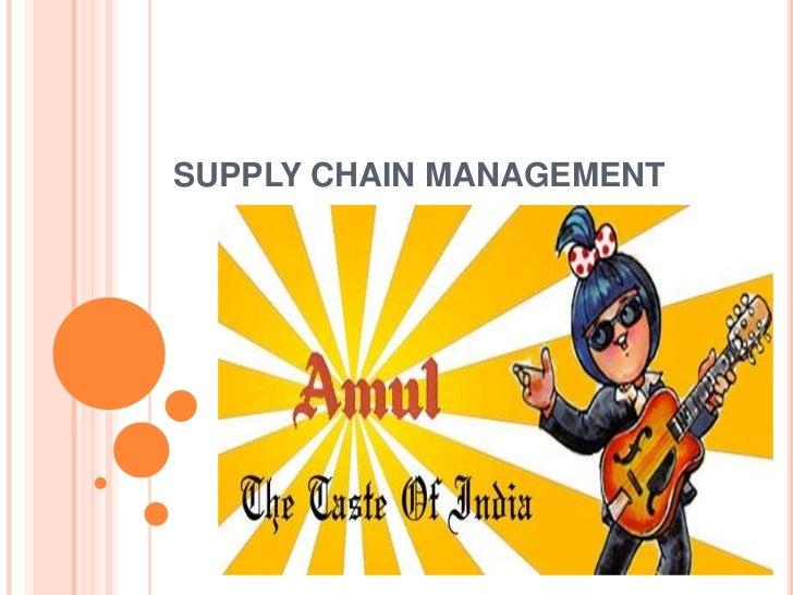 SUPPLY CHAIN MANAGEMENT<br />