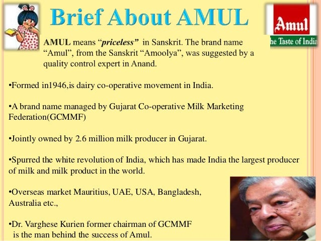 amul as a brand name Why should the amul moppet be scared of a little calf called gowardhan because the little brand now has amul's erstwhile ceo on its side.