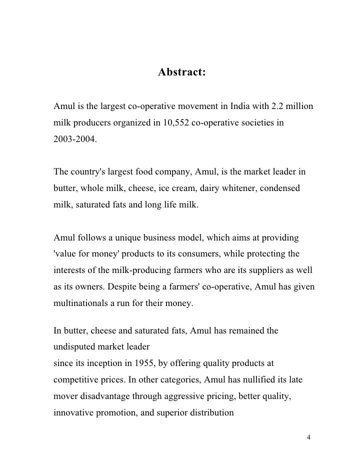 """amul deary cooperative in india essay According to the latest report by imacr group, titled """"dairy industry in india 2018 edition: market size, growth, prices, segments, cooperatives, private dairies, procurement and distribution"""", the dairy market in india reached a."""
