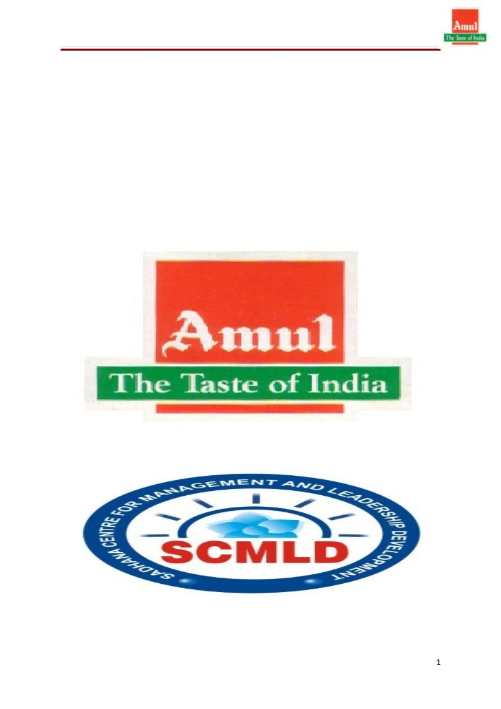 Amul summer project report chinmay bande 2003