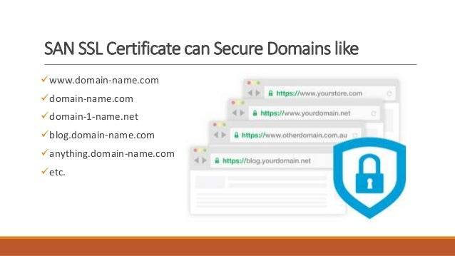 An SSL certificate is must be associated with one or more host names. Selecting the correct names is very important, because the certificate will be valid only if the request matches the host name (or host names) associated with the SSL certificate.