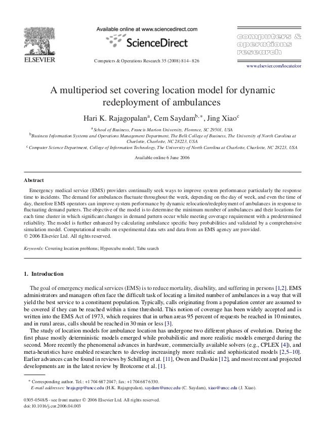 Computers & Operations Research 35 (2008) 814–826www.elsevier.com/locate/corA multiperiod set covering location model for ...