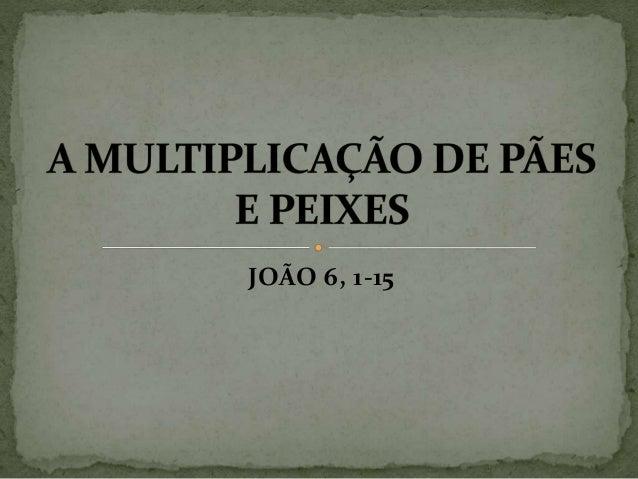 JOÃO 6, 1-15