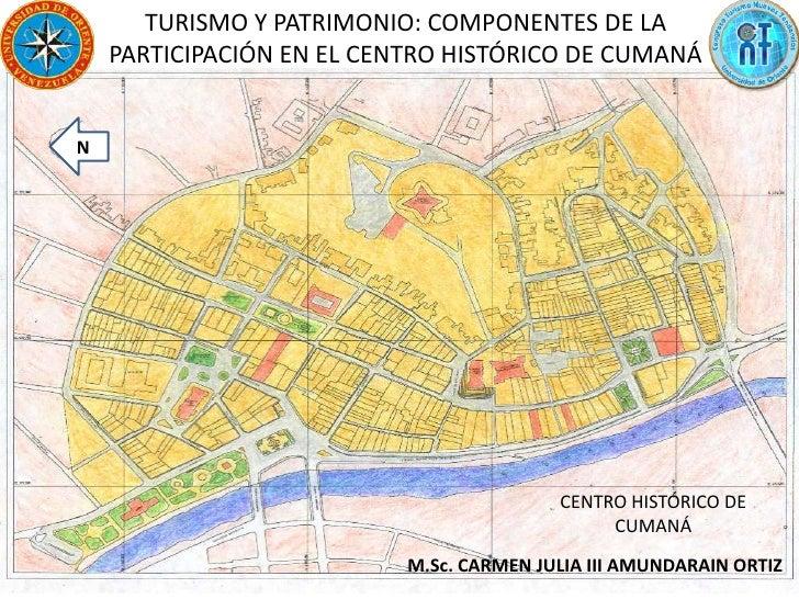 TURISMO Y PATRIMONIO: COMPONENTES DE LA PARTICIPACIÓN EN EL CENTRO HISTÓRICO DE CUMANÁ<br />N<br />CENTRO HISTÓRICO DE CUM...