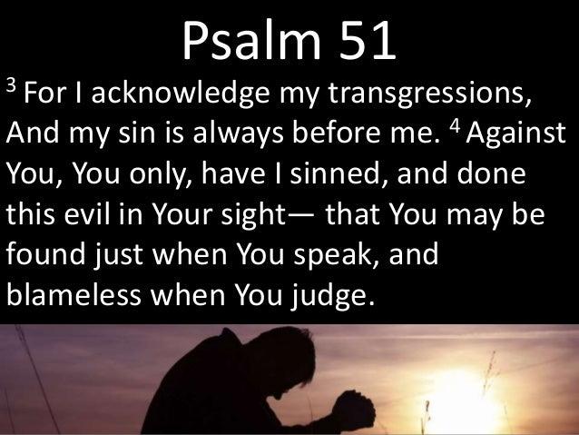 A murderer's prayer