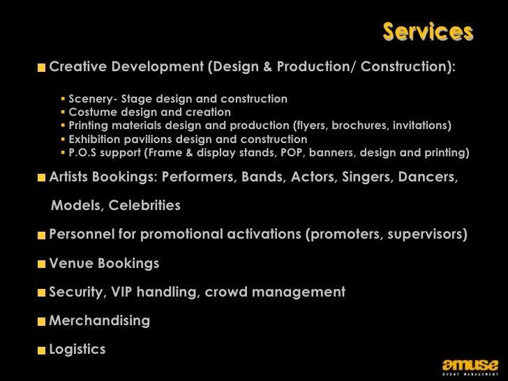 Amuse event management company profile