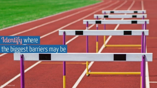 Image via Shutterstock Identify where  the biggest barriers may be