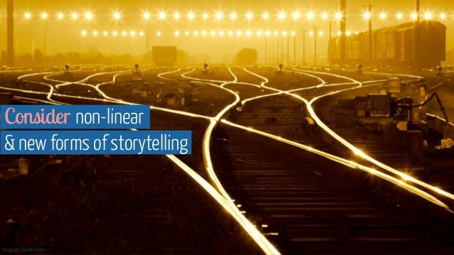 Image via Shutterstock Consider non-linear  & new forms of storytelling