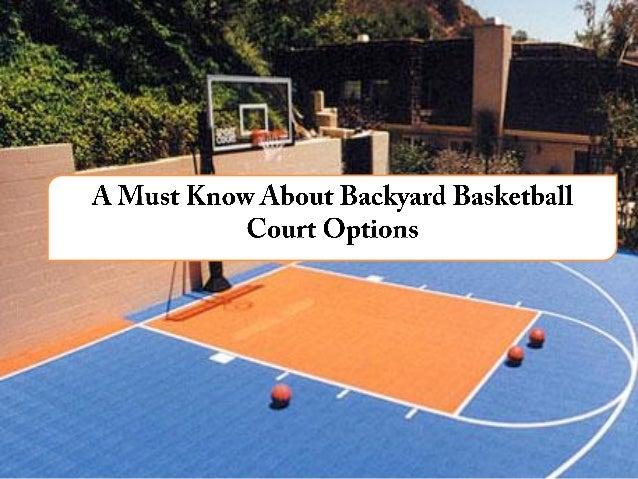 Superbe ... Backyard Basketball Court Options. Hardwood Asphalt Multi  Purpose  Advanced ...