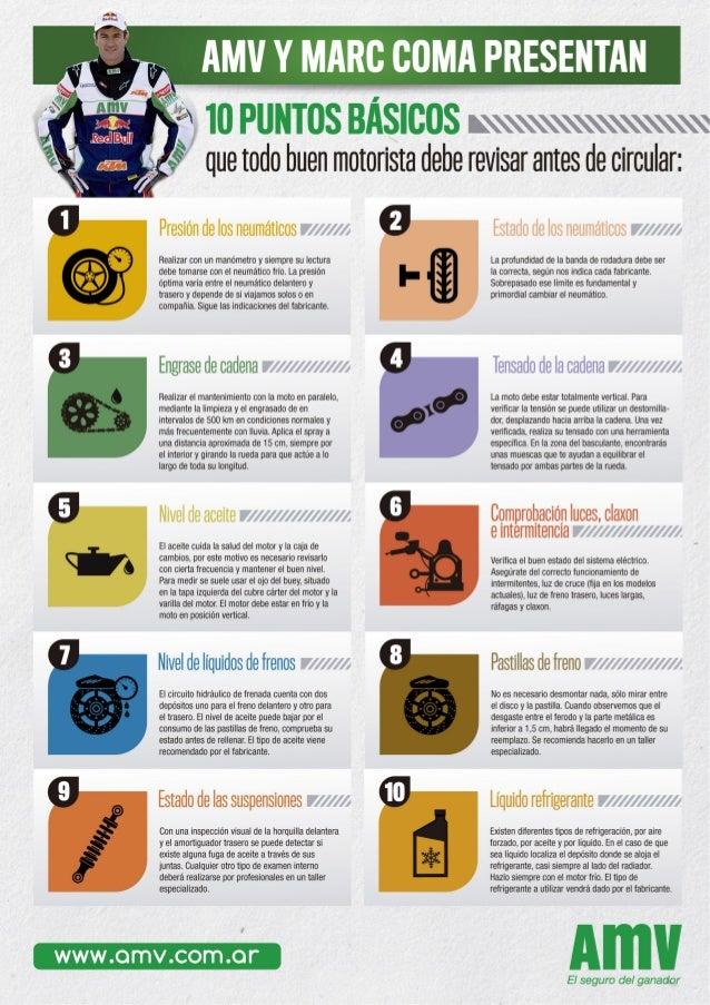 Marc Coma y AMV Seguros dan 10 consejos antes de circular con tu moto