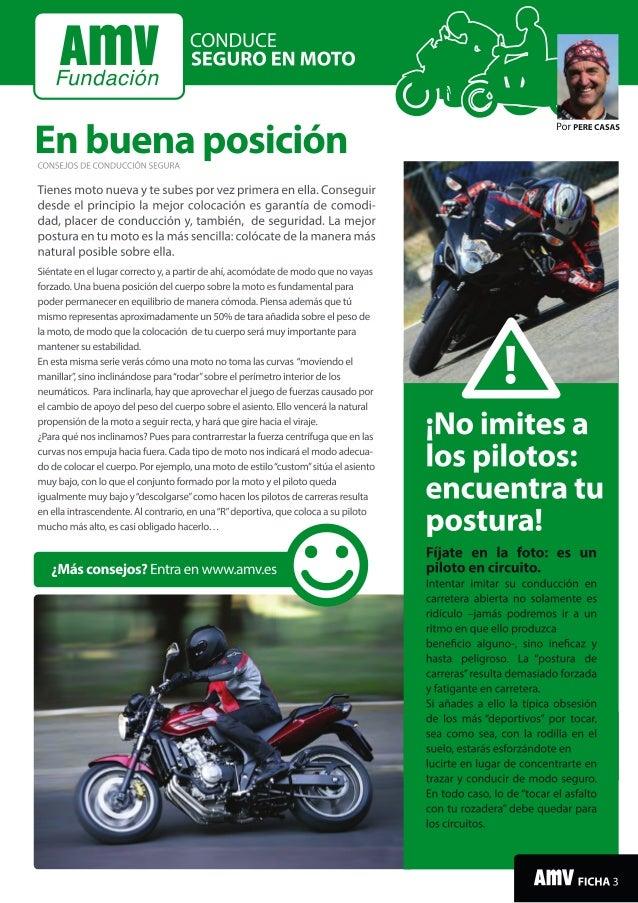 Conduce seguro en moto: La posición en la moto
