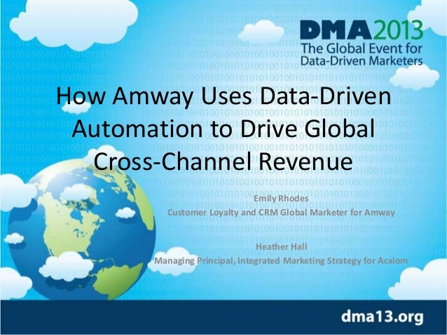 How Amway Uses Data-Driven Automation to Drive Global Cross-Channel Revenue Emily Rhodes Customer Loyalty and CRM Global M...