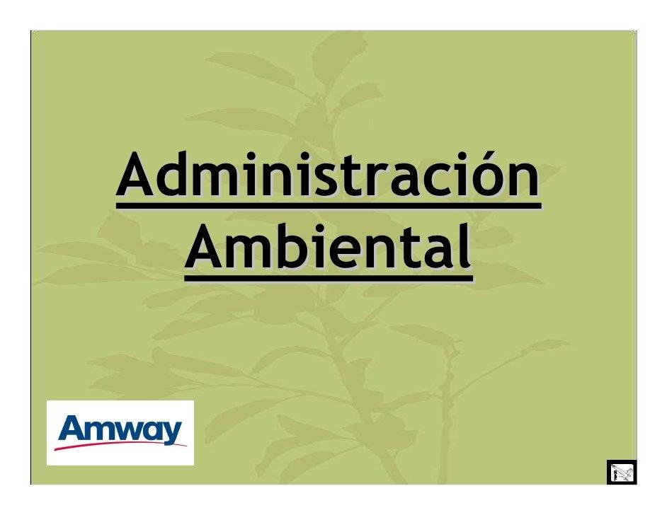 Administración   Ambiental