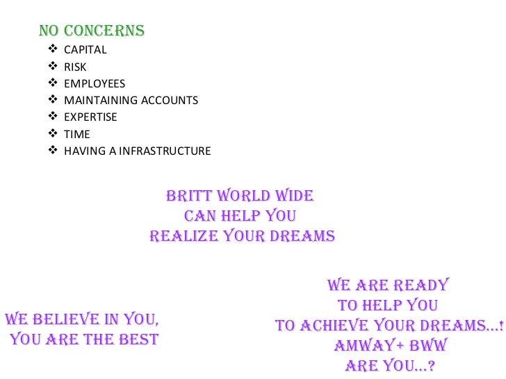 amway bww business plan