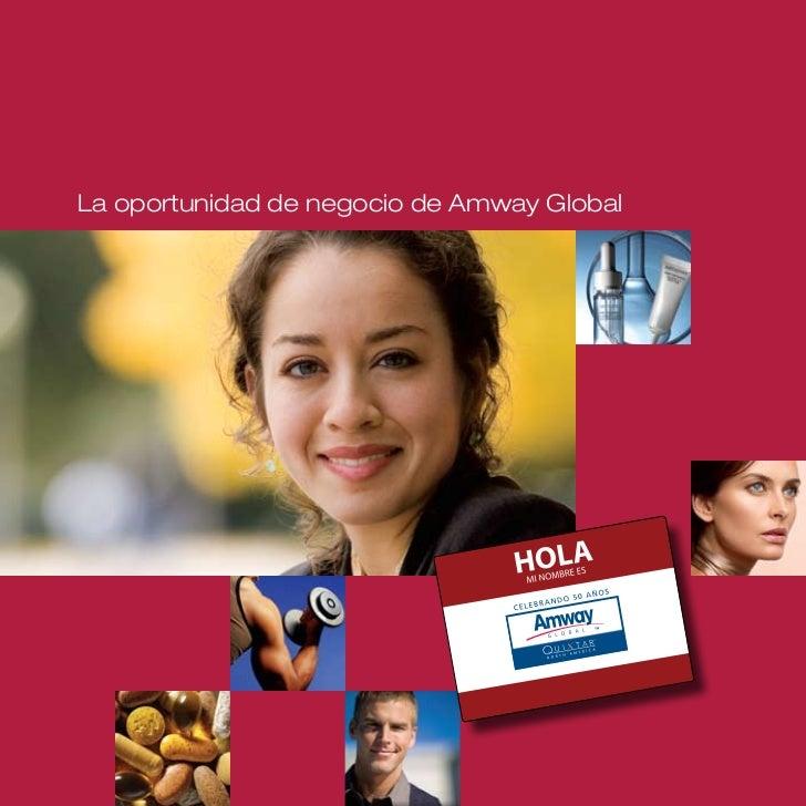 La oportunidad de negocio de Amway Global