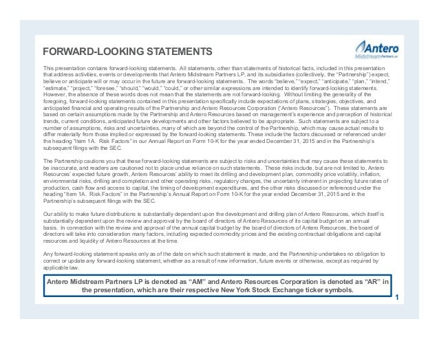 FORWARD-LOOKING STATEMENTS This presentation contains forward-looking statements. All statements, other than statements of...