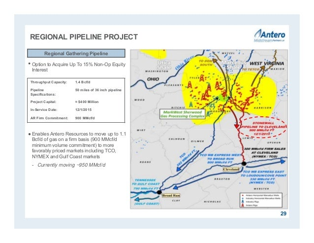 REGIONAL PIPELINE PROJECT •Option to Acquire Up To 15% Non-Op Equity Interest ●Enables Antero Resources to move up to 1.1 ...