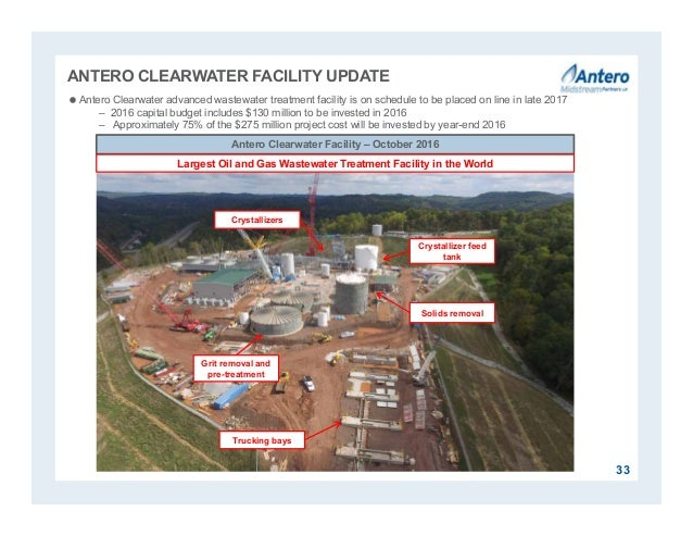 ANTERO CLEARWATER FACILITY UPDATE Antero Clearwater Facility – October 2016 Antero Clearwater advanced wastewater treatme...