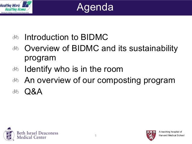 So You Want to Build a Composting Program - Amy Lipman, BIDMC Slide 2