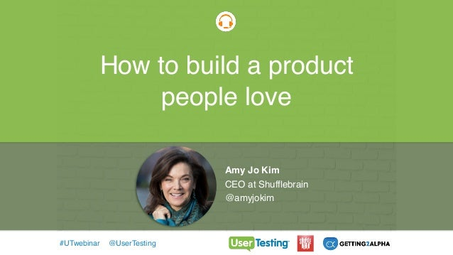 How to build a product people love Today's Guest: Tommy Walker Editor-in-Chief of the Shopify Plus Blog Webinars #UTwebina...