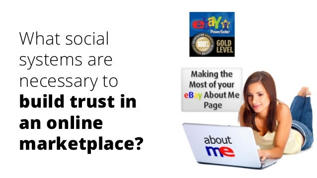 What social systems are necessary to build trust in an online marketplace?