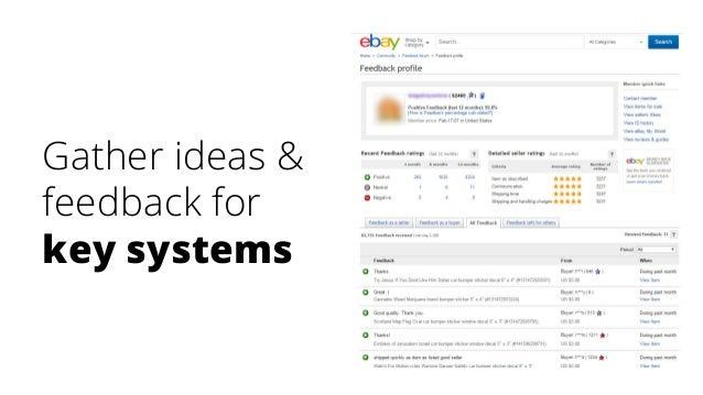 Gather ideas & feedback for key systems