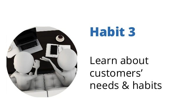 Habit 3 Learn about customers' needs & habits