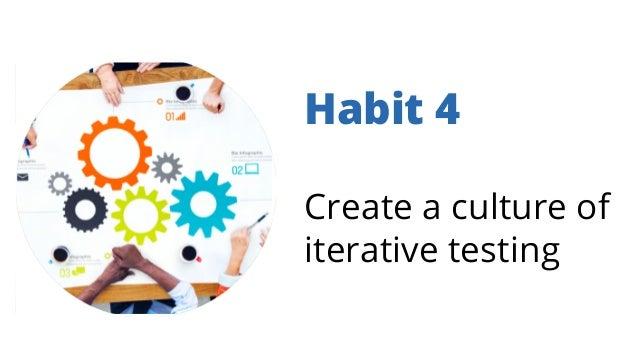 Habit 4 Create a culture of iterative testing