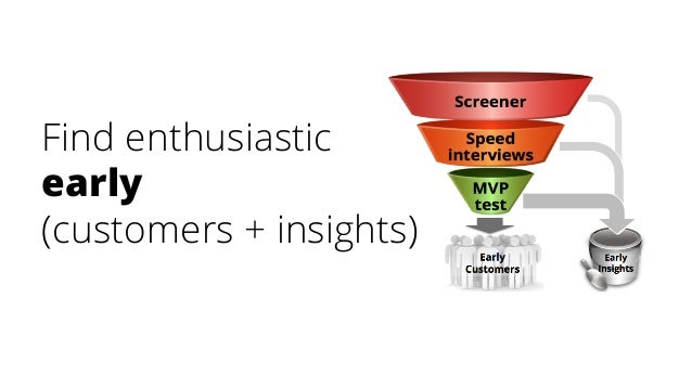 Find enthusiastic early (customers + insights)