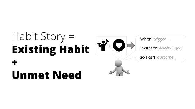 Habit Story = Existing Habit + Unmet Need