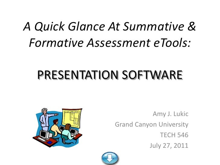A Quick Glance At Summative & Formative Assessment eTools:  PRESENTATION SOFTWARE                          Amy J. Lukic   ...
