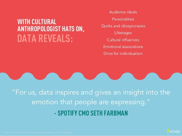 """""""For us, data inspires and gives an insight into the emotion that people are expressing."""" - SPOTIFY CMO SETH FARBMAN Audie..."""