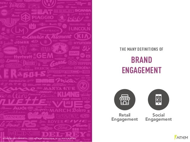 Retail Engagement Social Engagement THE MANY DEFINITIONS OF BRAND ENGAGEMENT PROPRIETARY AND CONFIDENTIAL © 2017 MATTHEWS ...