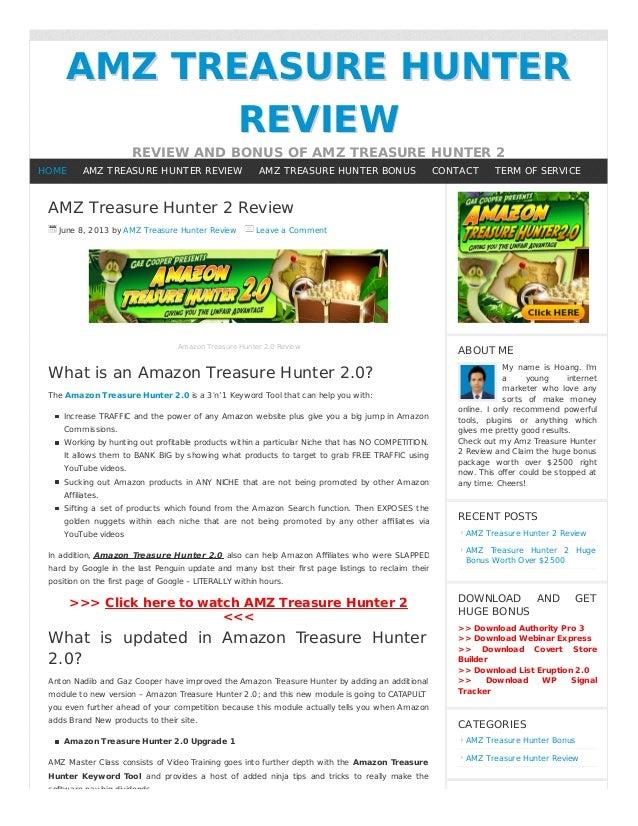 AMZ TREASURE HUNTERAMZ TREASURE HUNTERREVIEWREVIEWREVIEW AND BONUS OF AMZ TREASURE HUNTER 2AMZ Treasure Hunter 2 ReviewJun...