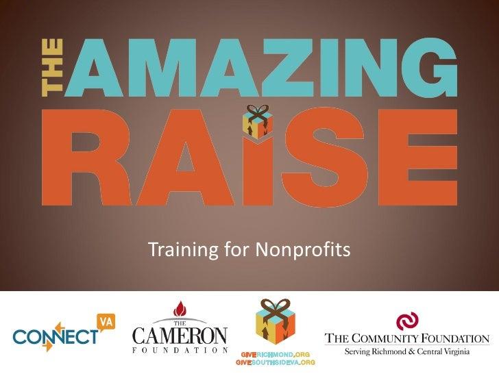Training for Nonprofits           v