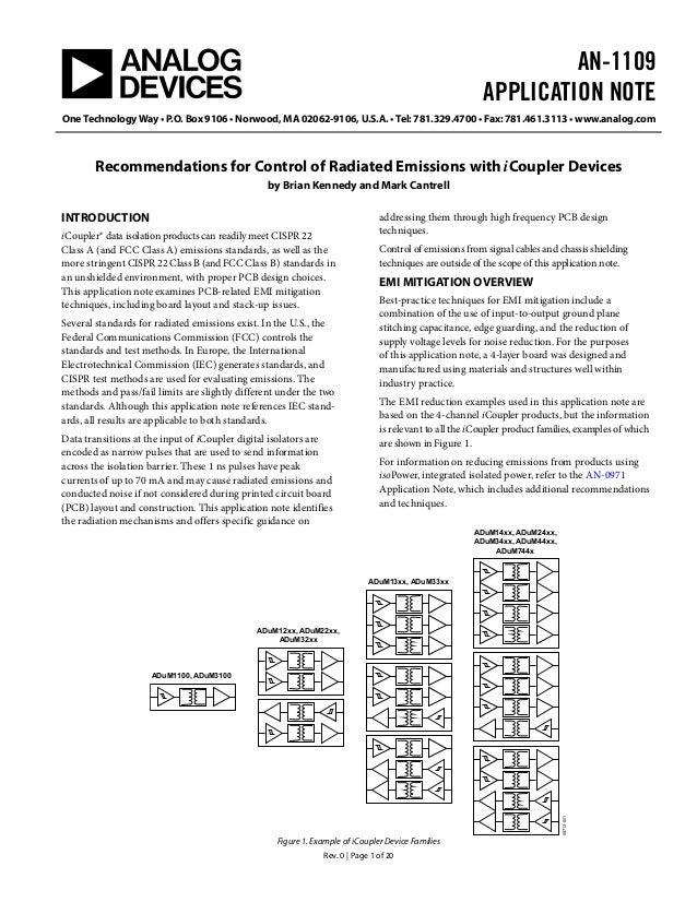 AN-1109APPLICATION NOTEOne Technology Way • P.O. Box 9106 • Norwood, MA 02062-9106, U.S.A. • Tel: 781.329.4700 • Fax: 781....