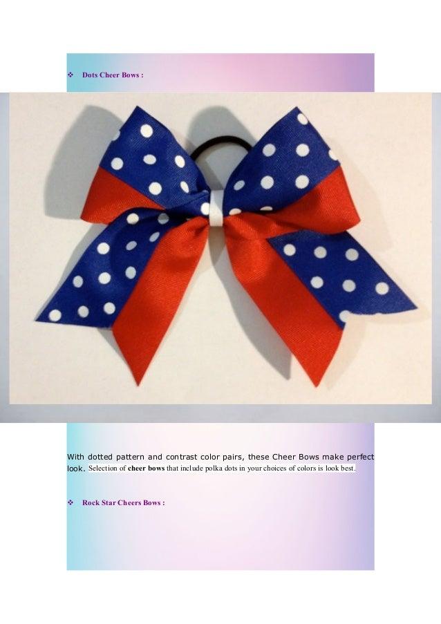 3 Dots Cheer Bows