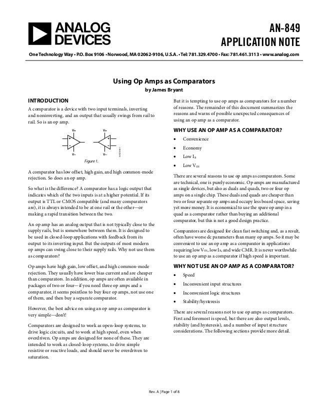 AN-849APPLICATION NOTEOneTechnologyWay • P.O. Box 9106 • Norwood, MA 02062-9106, U.S.A. •Tel: 781.329.4700 • Fax: 781.461....