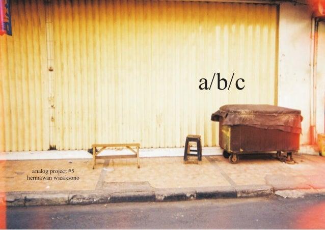 analog project #5 hermawan wicaksono a/b/c