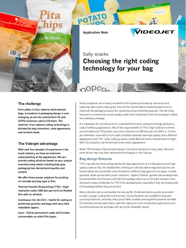 The challenge From pillow to four-sided to block-bottom bags, innovation in packaging design is ever changing, as are the ...