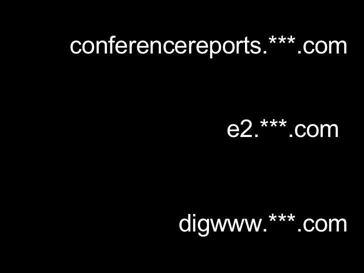 conferencereports.***.com e2.***.com digwww.***.com