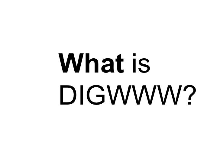 What  is DIGWWW?