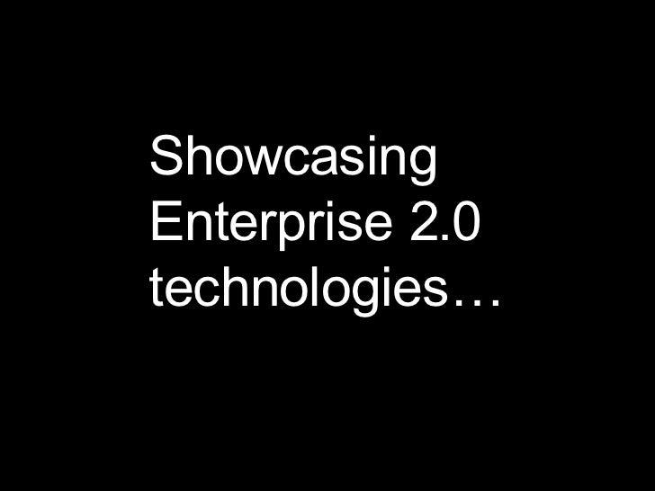 Showcasing Enterprise 2.0 technologies…