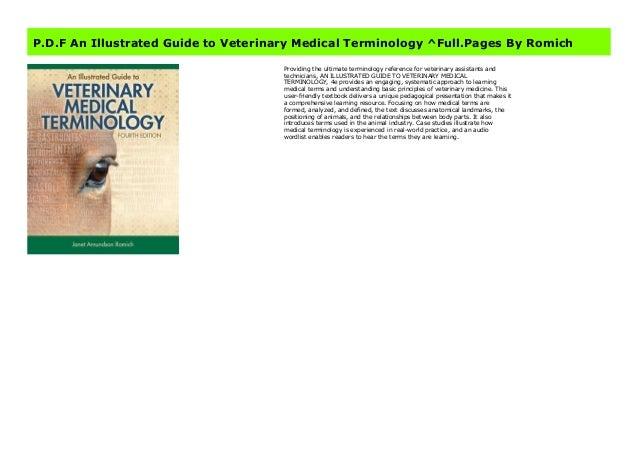 Veterinary medical terminology book free